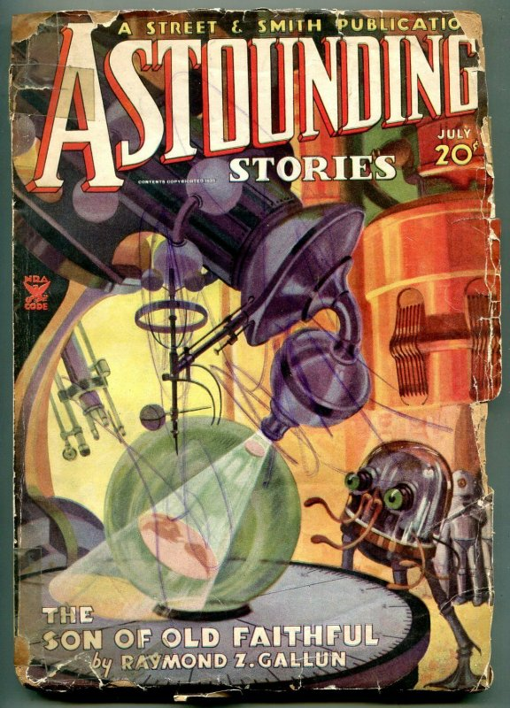 Astounding Stories Pulp July 1935- Son of old Faithful- reading copy