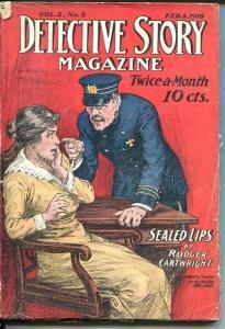 DETECTIVE STORY MAGAZINE-FEB 5, 1916-NICK CARTER-ROGER CARTWRIGHT-YORKE DAV VG