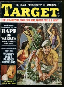 TARGET MAGAZINE DECEMBER 1961-SPOOKS ANONYMOUS-CIA-INTERIOR ART-CHEESECAKE-FN+