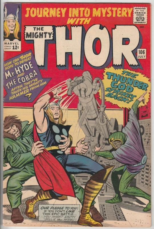 Journey into Mystery #106 (Jul-64) VF/NM High-Grade Thor