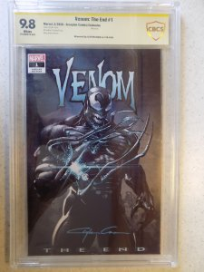 VENOM: THE END # 1 CBCS SS 9.8. CRAYTON CRAIN COVER AND SIGNATURE AWESOME