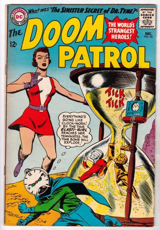 Doom Patrol #92 (Dec-64) VF+ High-Grade Proffesor, Negative Man, Elasti-Woman...
