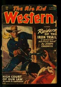 The Rio Kid Western February 1950 Thrilling Pulp-Black Mantle FR/G