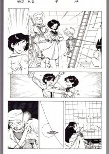NINJA HIGH SCHOOL V.2 #9 PG 12-ORIGINAL ART-BEN DUNN-ANIME-COMIC BOOK-NHS