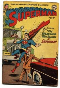 Superman #85 1953- DC Golden Age G/VG Weakling became superman