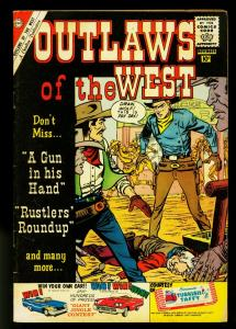 Outlaws of the West #28 1960- Gunfights- Charlton Western- VG+