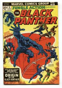 JUNGLE ACTION #8 1974 - ORIGIN OF THE BLACK PANTHER - comic book FN