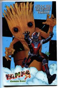 Tampa Comic Con Program 2016-Baby Groot / Antman cover