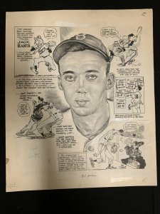 Lou Darvas Original Sporting News Original Art- 5/3/1950-Jack Banta