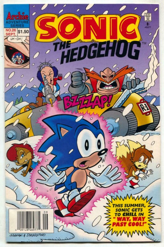 SONIC THE HEDGEHOG #26 1995-Archie Comics-Sega VF-