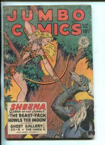 JUMBO #120-1949-FICTION HOUSE-SHEENA-SKY GIRL-GHOST GALLERY-fr