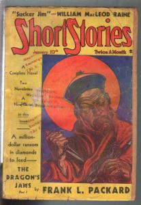 Short Stories 1/10/1937-Doubleday-Oriental Menace-pulp thrills-G