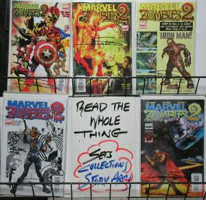 Marvel Zombies 2 (Marvel 2007) #1-5 Complete Signed by Arthur Suydam