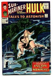 Tales to Astonish #71 comic book 1965- Hulk- Sub-Mariner VF+