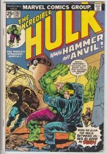 Incredible Hulk #182 (Dec-74) VG/FN+ Mid-Grade Hulk