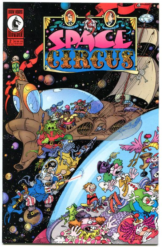 SPACE CIRCUS #2, VF/NM, Sergio Aragones, Dark Horse, 2000, 1st,more SA in store