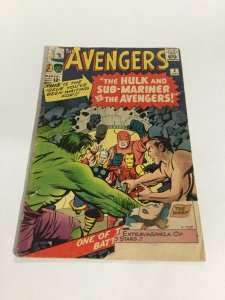 Avengers 3 Gd- Good- 1.8 Marvel Silver Age