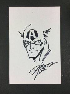 Ron Lim Captain America Sketch On SIlver Age Comic Board
