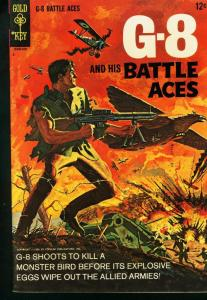 G-8 AND HIS BATTLE ACES #1  GOLD KEY     PULP HERO 1966 VG