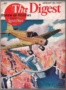 The Digest #6 8/21/1937-Pre WWII-aviation cover-Adolph Treidler-VG