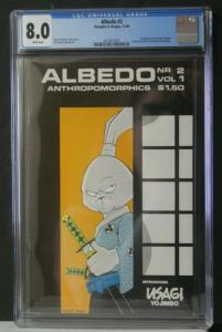 ALBEDO ANTHROPOMORPHICS #2 CGC 8.0 Graded Thoughts Images 1984 1st Usagi Yojimbo