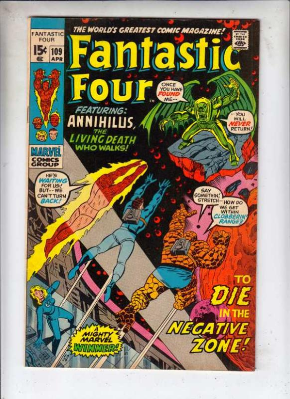 Fantastic Four #109 (Apr-71) VF/NM High-Grade Fantastic Four, Mr. Fantastic (...