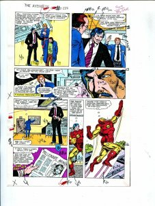 Avengers #222 1982 Hand Painted  Colorguide Page 4-Iron Man-Tony Stark-VG
