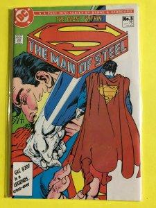 SUPERMAN   THE MAN OF STEEL MINI SERIES   #5 OF 6  1986  DC  /  UNREAD  /  NM
