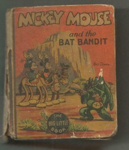 Mickey Mouse + Bat Bandit ORIGINAL Vintage 1935 Whitman Big Little Book Disney