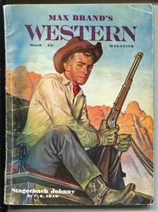 Max Brand's Western 3/1951-Popular Pubs-stagecoach-Frank Gruber-pulp-VG