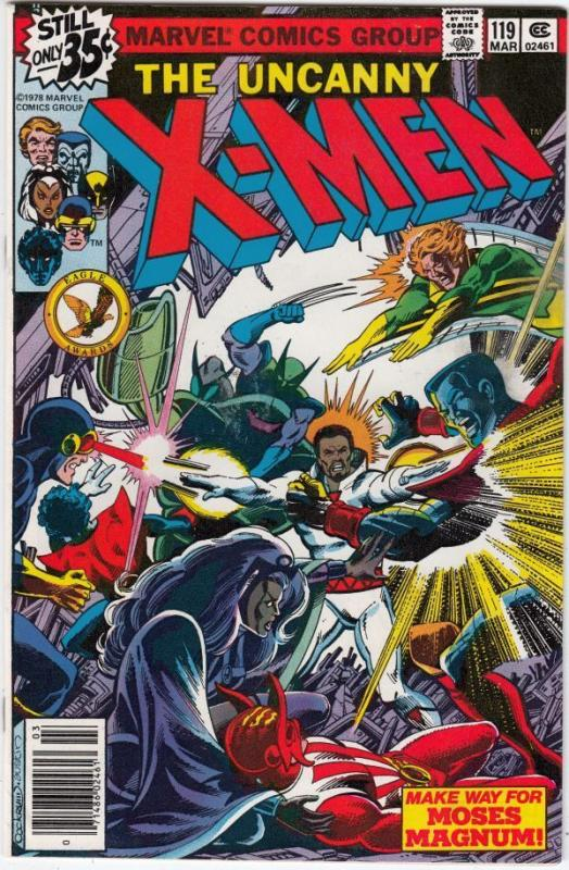 X-Men 119 strict NM 9.4 High-Grade  Moses Magnum! shipping free for U.S. buyers
