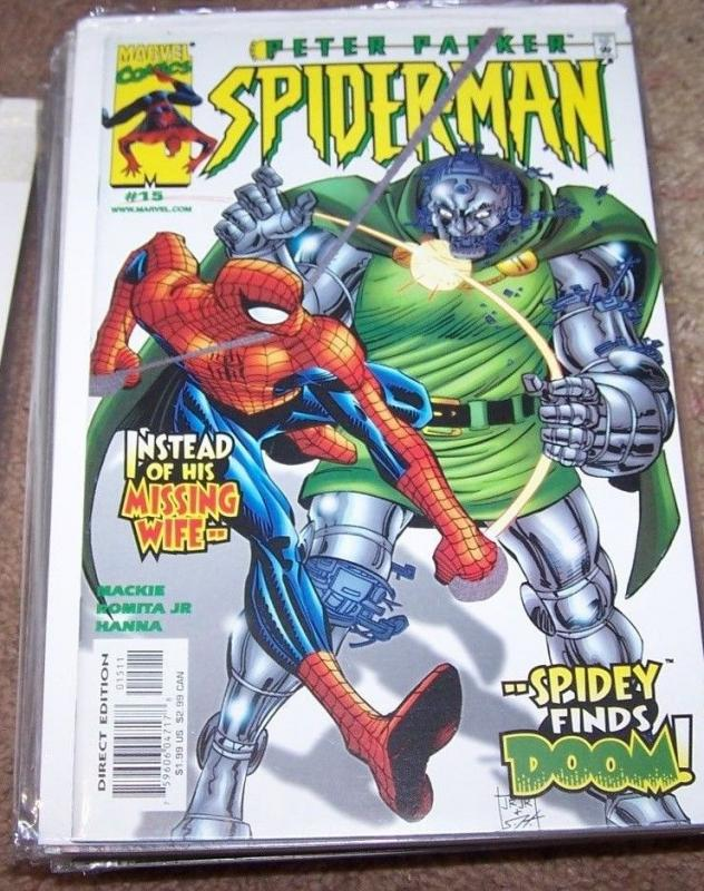 PETER PARKER SPIDER-MAN COMIC # 15 MARVEL 1999  DOCTOR DOOM