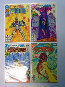 Tales of the New Teen Titans, Set:#1-4, Average 8.0/VF (1982)