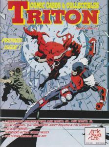 Triton Magazine: Comic Cards & Collectibles #1 VF; Attic   save on shipping - de