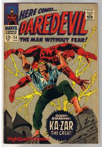 DAREDEVIL #24, FN/VF, Gene Colan, Ka-Zar, Stan Lee,1964, more DD in store