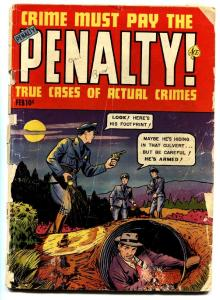 Crime Must Pay The Penalty #124 1952-Ace-Violent pre-code comic