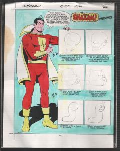 Hand Painted Color Guide-Capt Marvel-Shazam-C35-1975-DC-pages 44 & 45-robot-VG