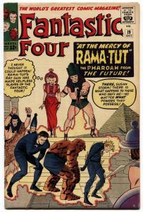 Fantastic Four #19 1963 Rama-Tut Kirby High Grade Marvel VF