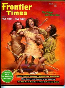 Frontier Times 3/1966-girl fight cover-Butch Cassidy-Cochise-Tom Jeffords-FN