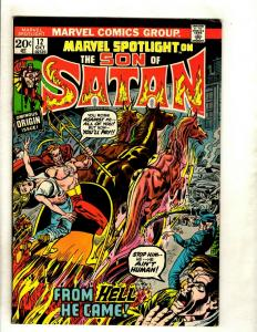 Marvel Spotlight # 12 FN/VF Comic Book Feat Son Of Satan 1st Full Appearance RS1