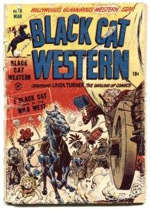 Black Cat Western #16 1949- Lee Elias- Golden Age FR