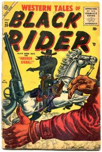 Western Tales of Black Rider #29 1955- Atlas- Maneely G