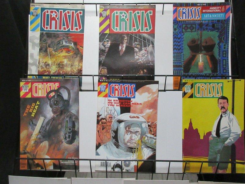 2000 AD Presents Crisis 1989 Lot #12, 18, 39, 40, 41, 46 UK Cold War Conscious
