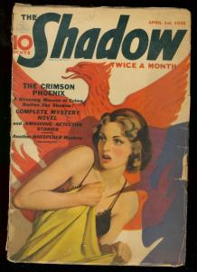SHADOW APRIL 1 1938- CRIMSON PHOENIX SPICY COVER PULP G