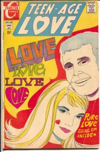 Teen-Age Love #68 1970-Charlton-psychedelic coverJonnie Love-motorcycle-VG