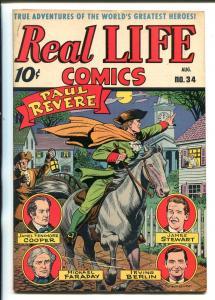 REAL LIFE #34-1946-NEDOR-PAUL REVERE-SCHOMBURG-IRVING BERLIN-JAMES STEWART-vf-