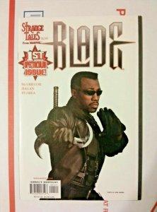 Blade #1 Strange Tales Wesley Snipes Photo Variant HTF Marvel 1998 Movie Coming