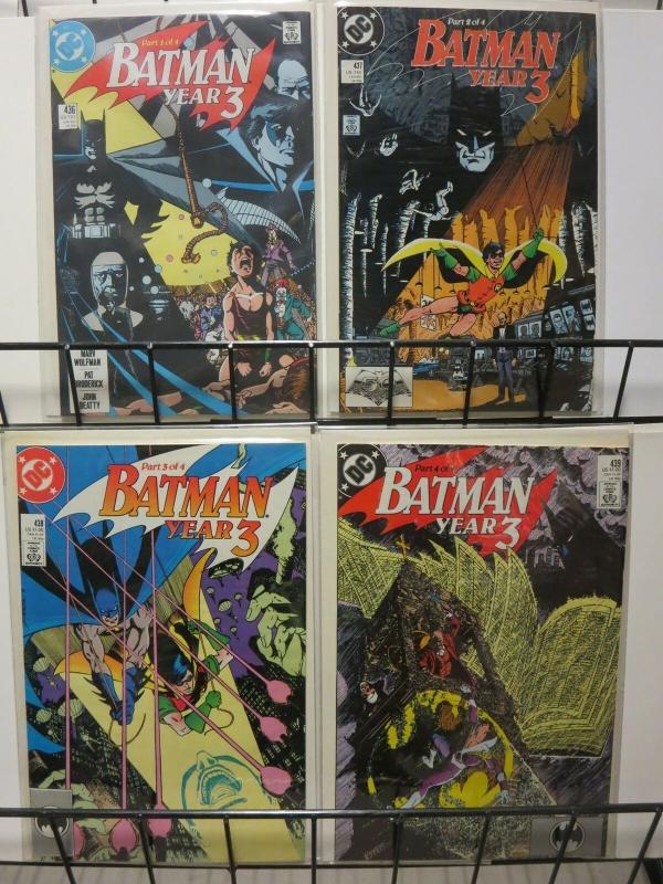 BATMAN 436-439 Year Three, ROBIN classic story arc
