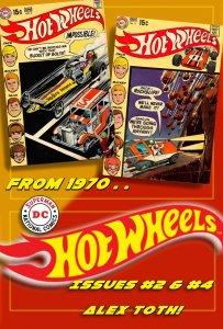 DC's HOT WHEELS #2 & #4 (Summer1970) 7.0 FN/VF ★ Winning Alex Toth Artwork!!