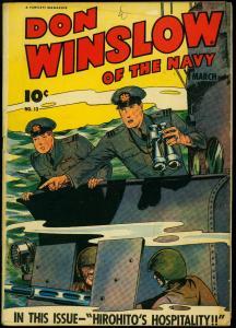 Don Winslow of the Navy #13 1944- Hirohito's Hospitality Fawcett VG+